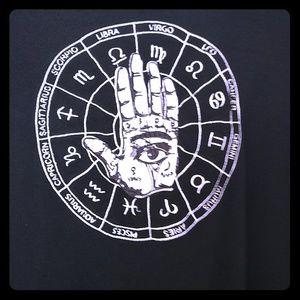Jaw breaker cardigan XL black Zodiac & Palmistry